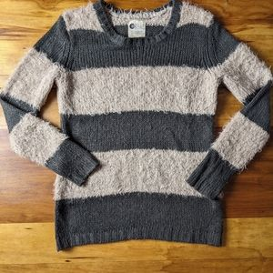 Billabong fuzzy and cozy striped sweater